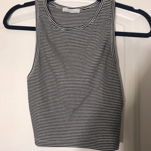 Zara black & white striped croptop | Size L